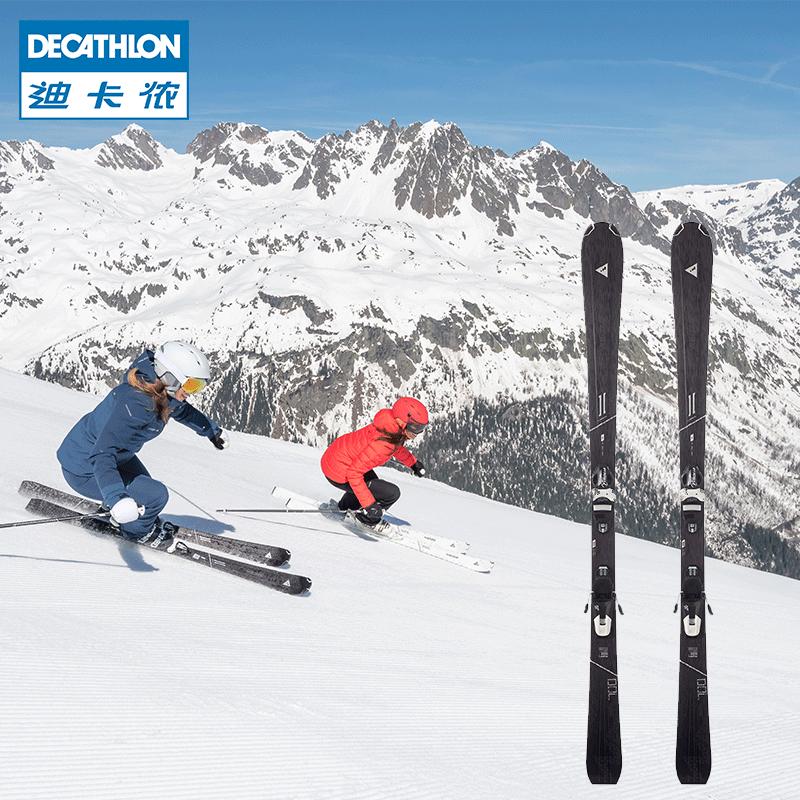 迪卡侬女士双板滑雪板 男士初中级滑雪装备OVWK