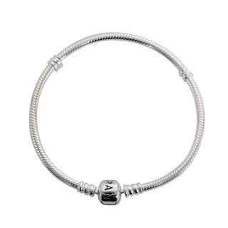 PANDORA 潘多拉  Silver 时尚925银蛇链基础女士手链 自戴