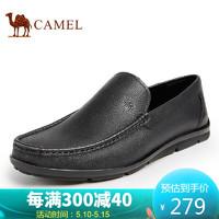 CAMEL 骆驼 骆驼(CAMEL) 休闲鞋男士皮鞋日常商务休闲 A112205030 黑色 41
