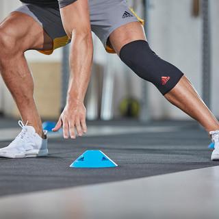 adidas 阿迪达斯 阿迪达斯基础款护膝 男女运动训练透气跑步健身篮球护膝盖单只装