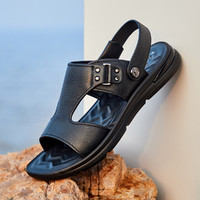 PLAYBOY 花花公子 舒适休闲男士凉鞋拖鞋日常两穿沙滩鞋休闲男鞋