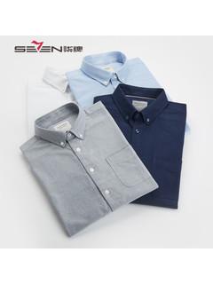 SEVEN 柒牌  116A38100 男士休闲纯棉衬衫