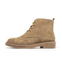 马丁靴女真皮女靴切尔西靴短靴女粗跟英伦风烟筒靴子女秋冬季女鞋