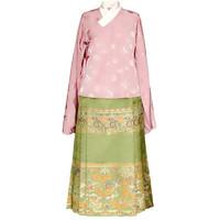 兰若庭 明制汉服 如意松鼠 女士一片式马面裙 SV7709 秋香绿 S