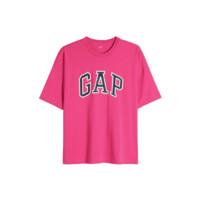 Gap 盖璞 重磅密织系列 男士圆领短袖T恤 688537 玫红色 XL
