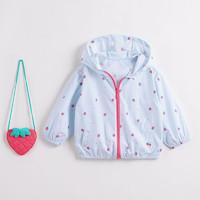 马克珍妮(MARC&JANIE)21夏装宝宝夏装女童儿童防晒衣212312 小草莓 4T(建议身高100cm)