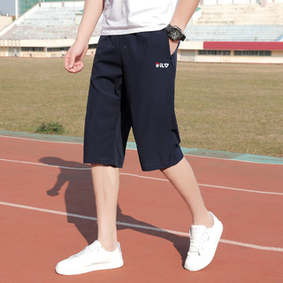 RED DRAGONFLY 红蜻蜓 夏季男士短裤透气七分裤个性系绳简约休闲运动裤
