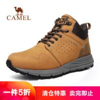 CAMEL 骆驼 CAMEL骆驼户外工装休闲鞋 秋冬情侣款男女减震防滑磨砂皮工装靴休闲鞋