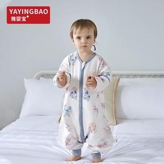 雅婴宝(YAYINGBAO) 纱布婴儿睡袋宝宝分腿儿童空调防踢被春夏睡袋