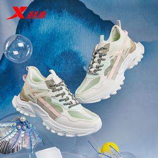 XTEP 特步 特步女鞋跑步鞋2021春季新款断码气垫鞋女减震跑鞋休闲鞋子运动鞋