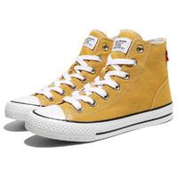 Levi's 李维斯 高帮帆布鞋男春夏新品休闲鞋子男透气耐磨板鞋