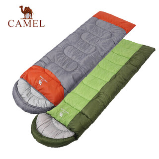 CAMEL 骆驼 骆驼睡袋成人 户外旅行便携秋冬季加厚露营防寒单人大人隔脏睡袋 A8W03006 深宝蓝/彩蓝 右边 1.8KG