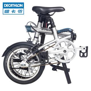 DECATHLON 迪卡侬 14寸折叠自行车休闲通勤男女单车轻便舒适快开学生OVBIC