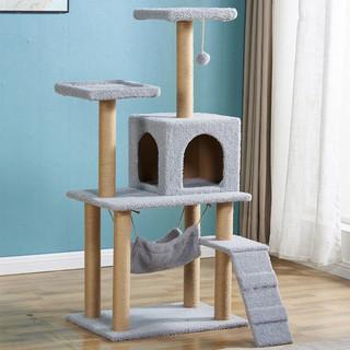 DAODANGUI 捣蛋鬼 猫爬架四季款猫跳台猫抓板大型猫窝猫树一体猫抓柱猫家具猫玩具用品