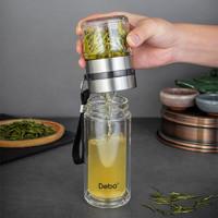 DEBO 德铂 Debo德铂茶水分离双层玻璃杯泡茶师过滤男女式旅行茶杯办公水杯特尔斯