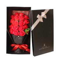 迪龙 520情人节礼物 18朵仿真玫瑰花束礼盒 适合送女友/爱人