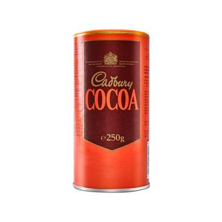 cadbury 进口吉百利无糖可可粉烘焙蛋糕原料食用冲饮巧克力粉250g