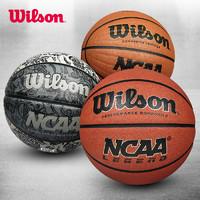 Wilson 威尔胜 wilson威尔胜篮球NCAA正品PU比赛7号室内外水泥地翻毛学生儿童5号