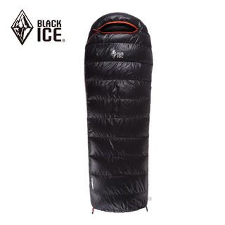 BLACK ICE 黑冰 BLACKICE黑冰 A400/A700/A1000/A1500 鸭绒成人户外睡袋 单人信封羽绒睡袋 黑色 A400 M码