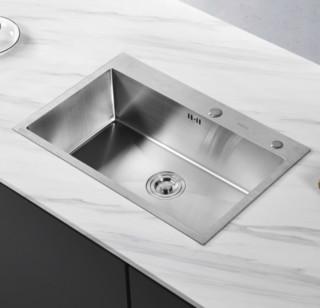 ARROW 箭牌卫浴 箭牌洗菜盆单槽304不锈钢加厚厨房手工水槽家用台下盆水池洗碗槽