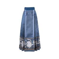 十三余 明制汉服 花间狸奴 女士马面裙 SHF151201 蓝色 M