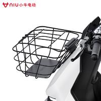 小牛电动 F0 前篮车筐车篮 电动车前车筐大容量实用 黑色