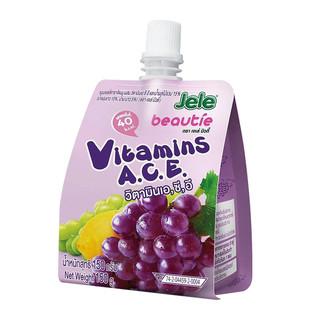 泰国进口Jele果冻布丁葡萄凑单儿童食用蒟蒻果肉休闲零食吸冻150g
