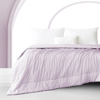J.ZAO 京东京造 缎彩系列空调被 双面夏凉被 单人可水洗薄被 150x200cm 丁香紫