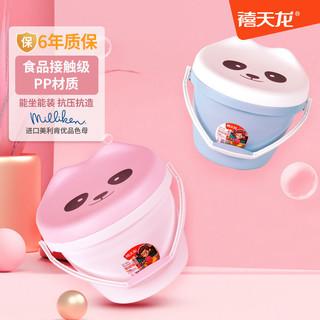 禧天龙嘟嘟桶凳塑料加厚钓鱼水桶儿童玩具收纳桶家用可坐带盖桶