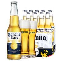 科罗娜啤酒 Corona墨西哥风味 啤酒 330ml*22瓶 配2个科罗娜啤酒杯