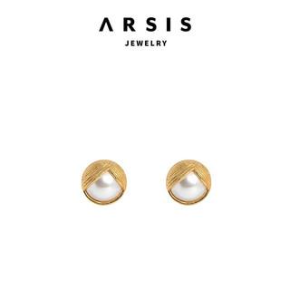 Arsis设计师品牌原创设计时尚饰品宫廷复古风耳夹小众耳钉女气质珍珠耳环520礼物送女友惊喜浪漫 鎏金珍珠耳夹