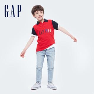 Gap 盖璞 男女童纯棉POLO衫短袖T恤682086夏季2021新款童装儿童LOGO上衣