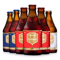 智美(Chimay/驰魅)比利时精酿 原装进口智美啤酒(白帽/蓝帽/红帽)随机6瓶330ml*6