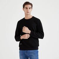 SEVEN 柒牌 春装新品 净色舒适透气微弹长T恤打底衫男士休闲卫衣