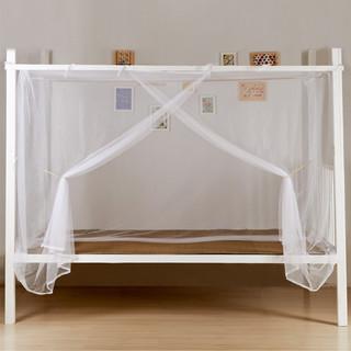 老式方顶加密宿舍寝室上铺下铺单人学生床防尘顶蚊帐帐子家用双人