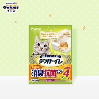 Gaines 佳乐滋 沸石猫砂除臭无尘 4L 双层猫砂盆适用 日本进口