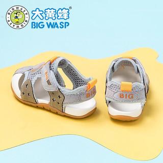 大黄蜂宝宝鞋子男女童凉鞋2021夏季小童机能包头软底婴儿学步鞋