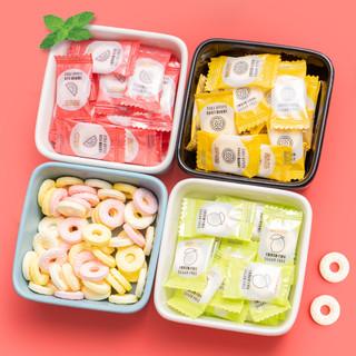 思意达 薄荷糖500g清新清凉口气海盐水果圈圈糖果喜庆年货散装