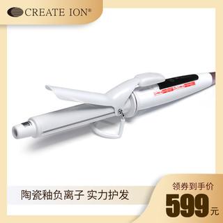 CREATE ION 创离子 日本CREATE ION白陶瓷卷发器负离子陶瓷不伤发卷发棒蛋卷头