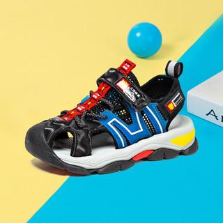 BIG WASP 大黄蜂 男童鞋儿童2021新款夏季男孩沙滩鞋软底防滑包头凉鞋