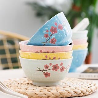 松发 家用陶瓷碗 4.5英寸 8个装+勺 8只装
