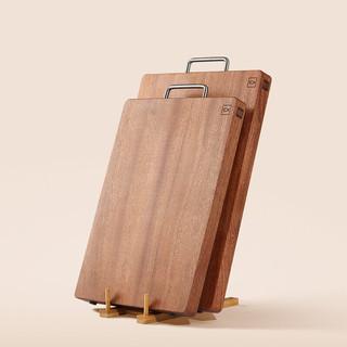 HUOHOU 火候 沙比利乌檀木整木砧板(大号)厨房用品切菜板案板方形原木家用面板切肉擀面板
