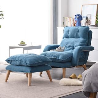 JIAYI 家逸 懒人沙发卧室单人小沙发椅阳台折叠靠背休闲椅网红榻榻米躺椅