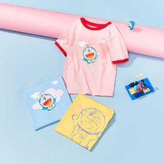 balabala 巴拉巴拉 儿童t恤女童短袖2021新大童纯棉萌趣
