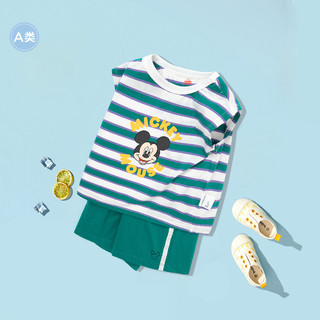 balabala 巴拉巴拉 宝宝夏装女童2021新款婴儿短袖套装男