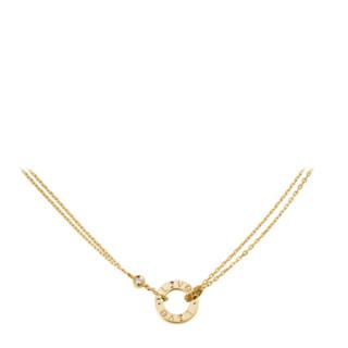 Cartier 卡地亚 项链女士玫瑰金/K金嵌钻 LOVE项链预售预售 玫瑰金 镶嵌2颗总重0.03克拉
