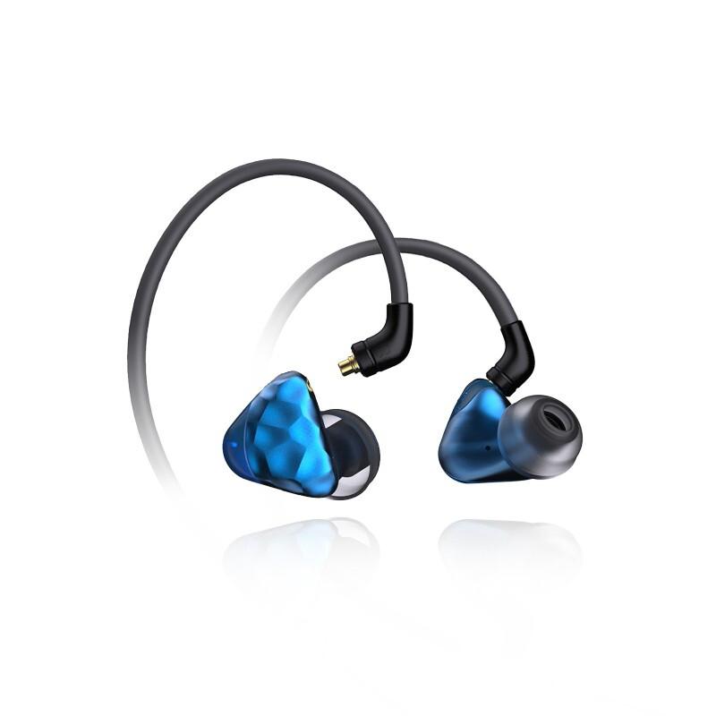 ikko IKKO OH1s 2021款沉积碳纳米圈铁耳机SAVS音腔系统入耳式耳机 浅蓝色
