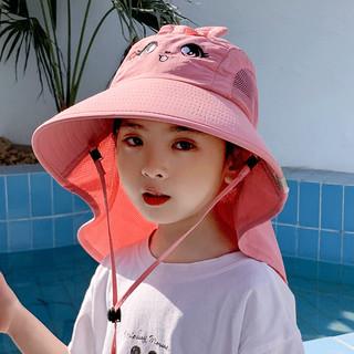 HOCR -儿童帽子 防晒大檐披肩帽