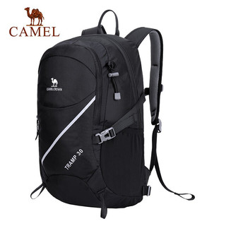 CAMEL 骆驼 双肩包 30L户外休闲时尚旅行男女运动骑行徒步背包 A9S3D1102  深青蓝