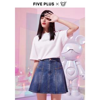 Five Plus 5+ 短袖T恤女装2021年夏季 白色018 M